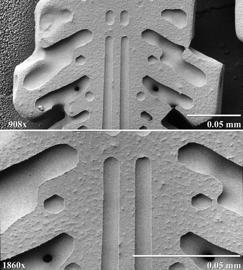 بلور برف زیر میکروسکوپ