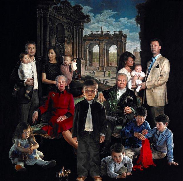 پرتره رسمی خانواده سلطنتی دانمارک