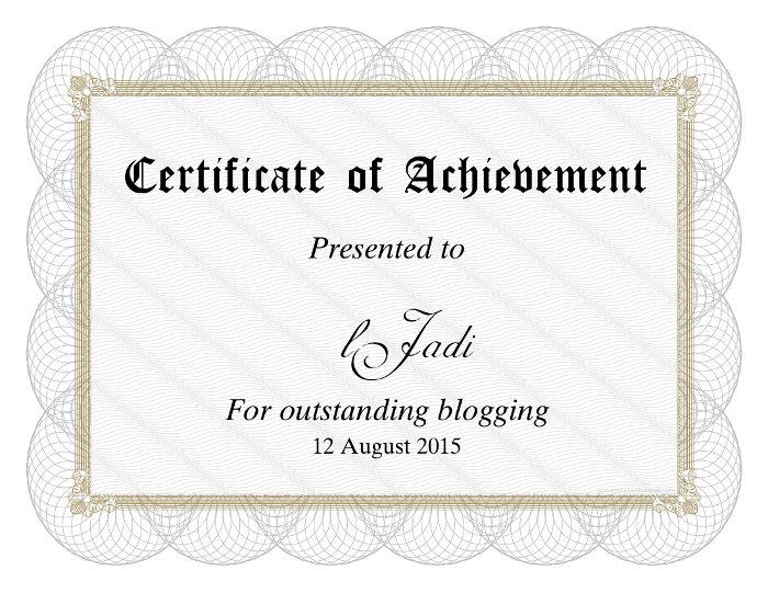 مدرک وبلاگنویسی جادی قهرمان
